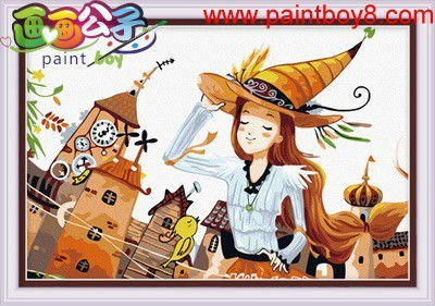 wholesales diy painting photo frame digital cartoon design painting by numbers