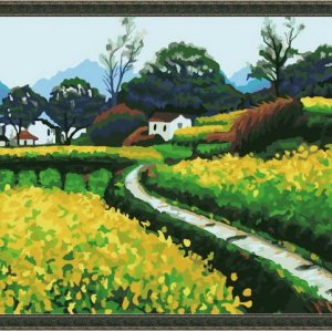 nature landscape oil painting on canvas factory paint by numbers
