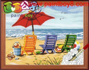 hot selling craft gift coloring by numbers canvas oil painting diy wholesale craft supplies
