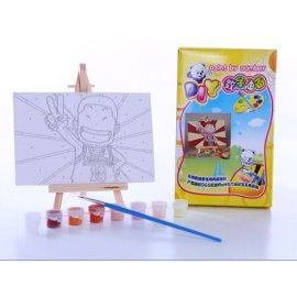 10 * 15 pintura de la lona de los niños mini pinturas con caballete ventas al por mayor diy pintura por números
