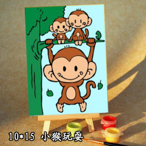wholesales diy painting with numbers A014 monkey design oil painting on canvas wholesales