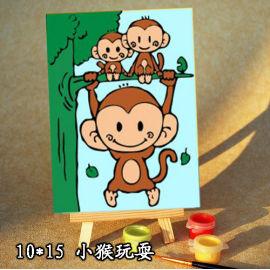 Ventas al por mayor diy pintura con números A014 mono pintura al óleo del diseño en la lona ventas al por mayor