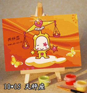 mini size with easel - painting by numbers for kid's use