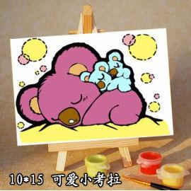 Ventas al por mayor diy pintura by números A018 acrílico pintura al óleo sobre lienzo