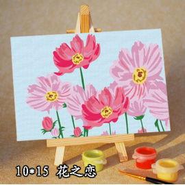 Niños mini lona pintura conjunto con caballete de madera