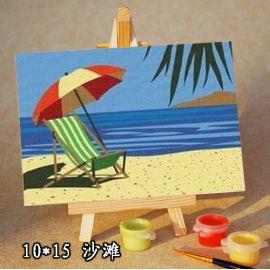 Mar pintura al óleo capa por números del kit de la pintura - diy art set - dibujo por los números 10 * 15 cm