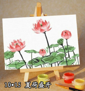 kid's canvas painting set painting by numbers 10*15cm flower photo paing kit