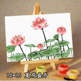 Del cabrito de set pintura de la lona pintura por los números 10 * 15 cm foto de la flor paing kit