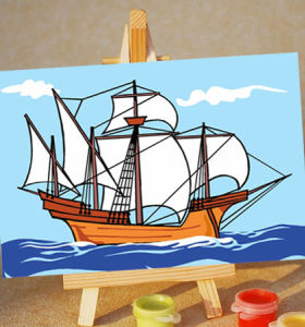 diy painting with numbers - EN71-3 - ASTMD-4236 acrylic paint - paint boy 10*15cm