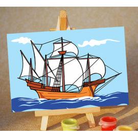 Diy pintura con números - EN71-3 - ASTMD-4236 de acrílico pintura - pintura 10 * 15 cm