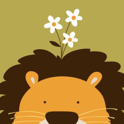Cartoon lion paintboy DIY canvas paintings for beginner kids kindergarten B010 wholesale