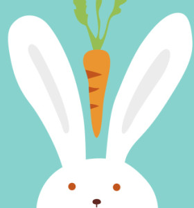 Framed 20*20 paintboy rabbit and carrot DIY digital paintings by numbers on canvas for beginner B011