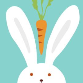 Enmarcado 20 * 20 paintboy conejo y la zanahoria digital de DIY pinturas by números en la lona para principiante B011