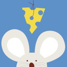 Enmarcado 20 * 20 paintboy DIY lona del ratón pinturas de la historieta by números para los niños B007
