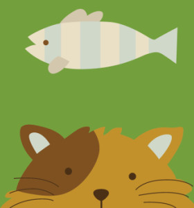 Framed 20*20 paintboy fish and cat DIY canvas painting by numbers for kids B008