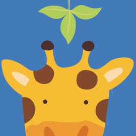Enmarcado 20 * 20 paintboy DIY lona de la jirafa pinturas de la historieta by números para los niños nuevo diseño B003