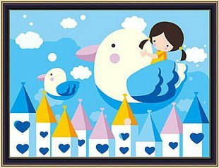 wholesales diy paint by numbers 20*30cm cartoon design art suppliers factory price