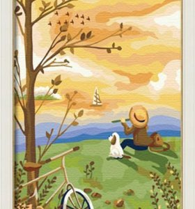 wholesales diy painting with numbers C048 landscape painting on canvas jia cai tian yan paint boy design
