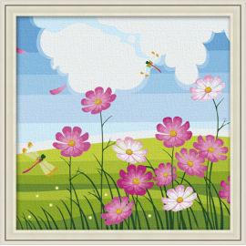 Tanz der libelle diy gemälde von zahlen- en71-3- astmd- 4236- junge 30*30cm acrylfarbe malen