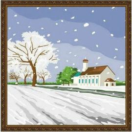 Landschaftsmalerei von Zahlen- en71-3- astmd- 4236 acrylfarbe- Lack Junge 30*30cm