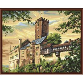2,5 cm Dicke holzrahmen malerei auf leinwand kits landschaft Ölgemälde