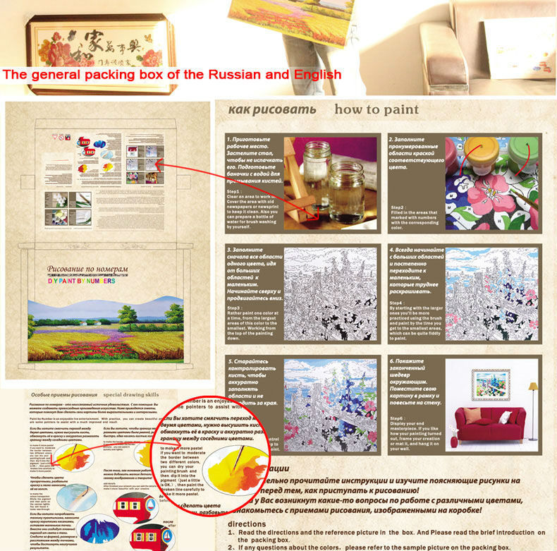 Wholesale 2015 newest DIY canvas oil painting by number kits