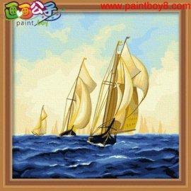 besten preis diy Öl malen nach zahlen f015 acrylinc seelandschaft malerei auf leinwand