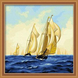 Pintura con números - EN71-3 - ASTMD-4236 de acrílico pintura - pintura 40 * 40 cm
