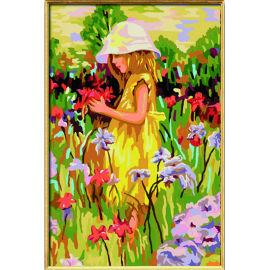 kleines Mädchen ziemlich Foto malen nach zahlen neuware bild malerei