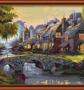 EN71-3 - ASTMD-4236 acrylic paint ing- landscape oil painting paint boy 40*50cm