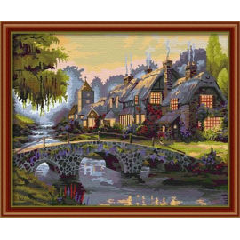 En71-3- astmd- 4236 acrylfarbe ing- Landschaft Öl malen Junge 40*50cm