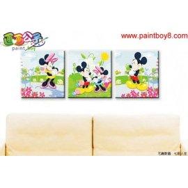 Acryl Ölmalerei cartoon bilder, 3 platten