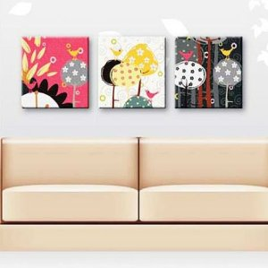 group oil painting,triple oil painting by numbers,home deco 3 panels oil painting