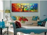 triple oil painting by numbers, 3 panels painting The best oil painting in China
