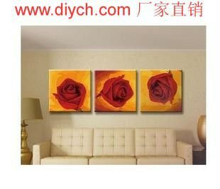 Painting by numbers rose 3pcs group painting