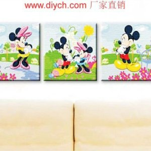 Diy oil painting by digital P010 3PCS panels triple oil painting by numbers