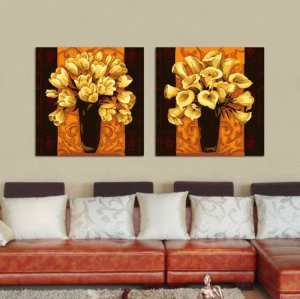 J007 golden painting flower design oil painting by numbers yiwu wholesales