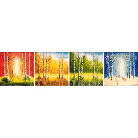 Diy pintura de aceite por números de cuatro paneles nuevo diseño de pintura al óleo