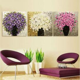 Caliente foto de la flor tríptico pintura by números de la decoración del hogar