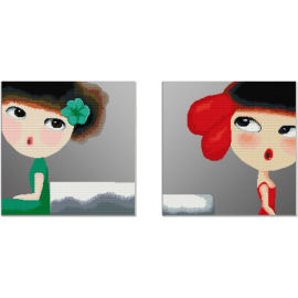 Pintura digital - fabricante - en71, Ce, Sgs de imagen moderna pintura de dos paneles