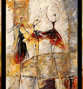 paintboy DIY digital handmade abstract dancer oil group painting by number on canvas
