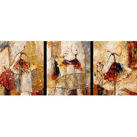 Paintboy digital de DIY hechos a mano abstracta al óleo del bailarín de pintura del grupo by número en la lona