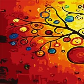 Tripych diy pintura al óleo by números en la lona GX7167