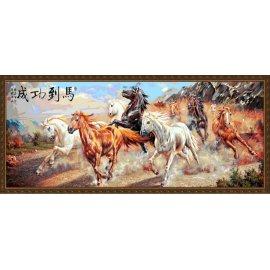 großhandel diy Ölgemälde mit Zahlen Rennpferd Größe malerei