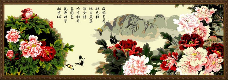 chinese oil painting by numbers home deco wholesales paint by numbers