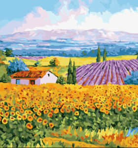 Art Supplies - Canvas, Acrylic Paint-oil painting beginner kit-landscape painting