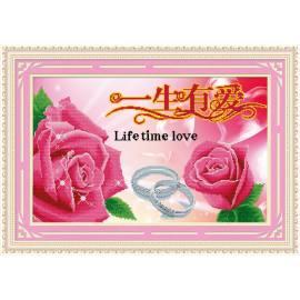 ausgezeichneten Leinwand handgefertigt färbung von Zahlen diy malen nach zahlen rose blume