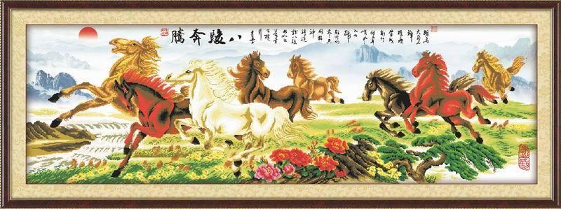 running horse diy oil painting by numbers - manufactor - EN71,CE,SGS - OEM-oil painting beginner kit