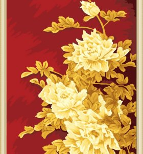 wholesales diy painting with numbers J011 golden printing flower design jiacaitianyan paintboy brand