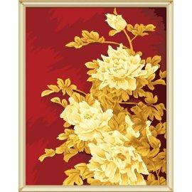 Großhandel diy malerei mit Zahlen j011 goldenen druck blumen-design jiacaitianyan paintboy marke